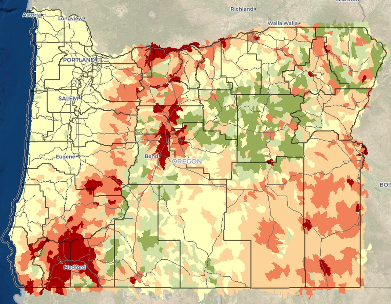 Our core competency lies in wildfire data, information, and mapping services. New Tool Allows Oregon Residents To Map Wildfire Risk To Their Exact Location Oregonlive Com