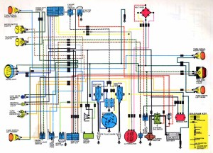 CB350 K4 Color electrical Diagram
