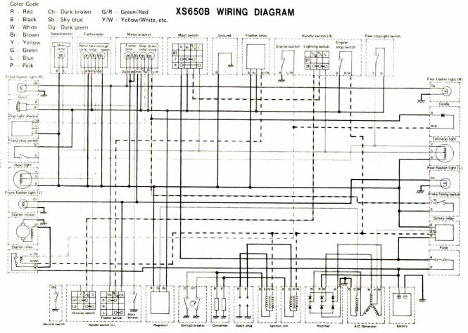 yamaha xs650 wiring diagram wiring diagram 1979 yamaha xs650 wiring diagram the