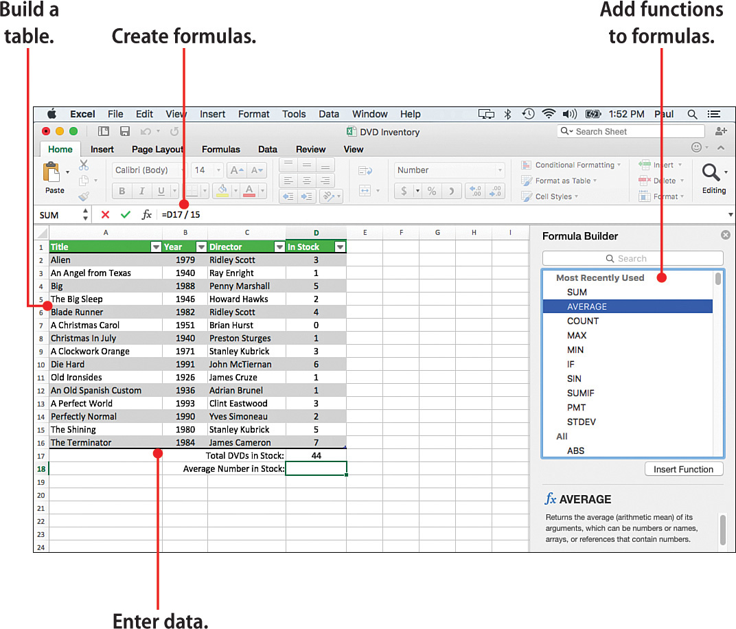 6 Entering Excel Data