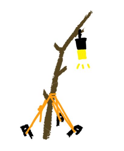 木の枝スタンド