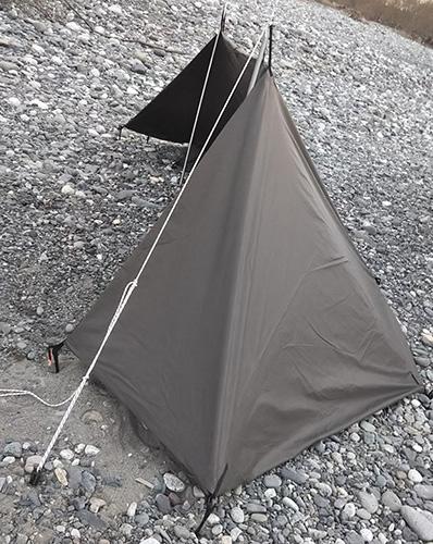 DDタープの張り方:風防型