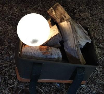 ココナッツライトをキャンプで使用