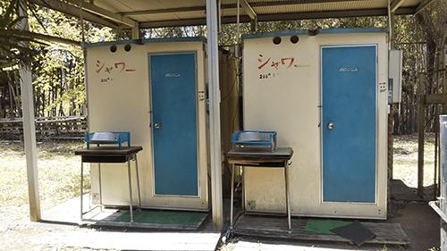 上島キャンプ場シャワー