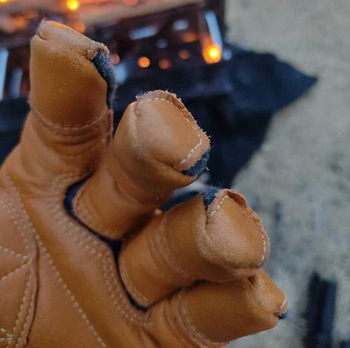 トンボレックス消防手袋 キャンプ