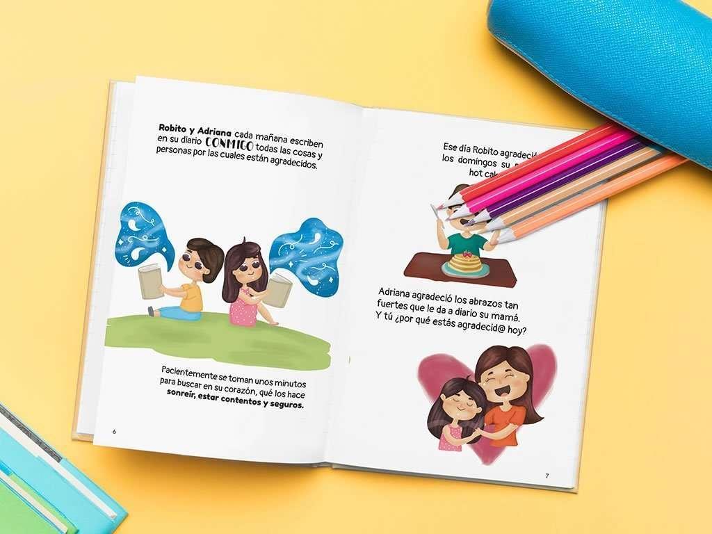 Diario de gratitud para niños