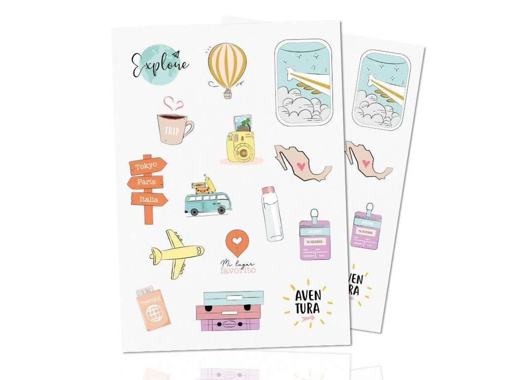 Regalo para mujer, stickers de viajes