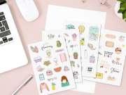 planilla de 4 stickers