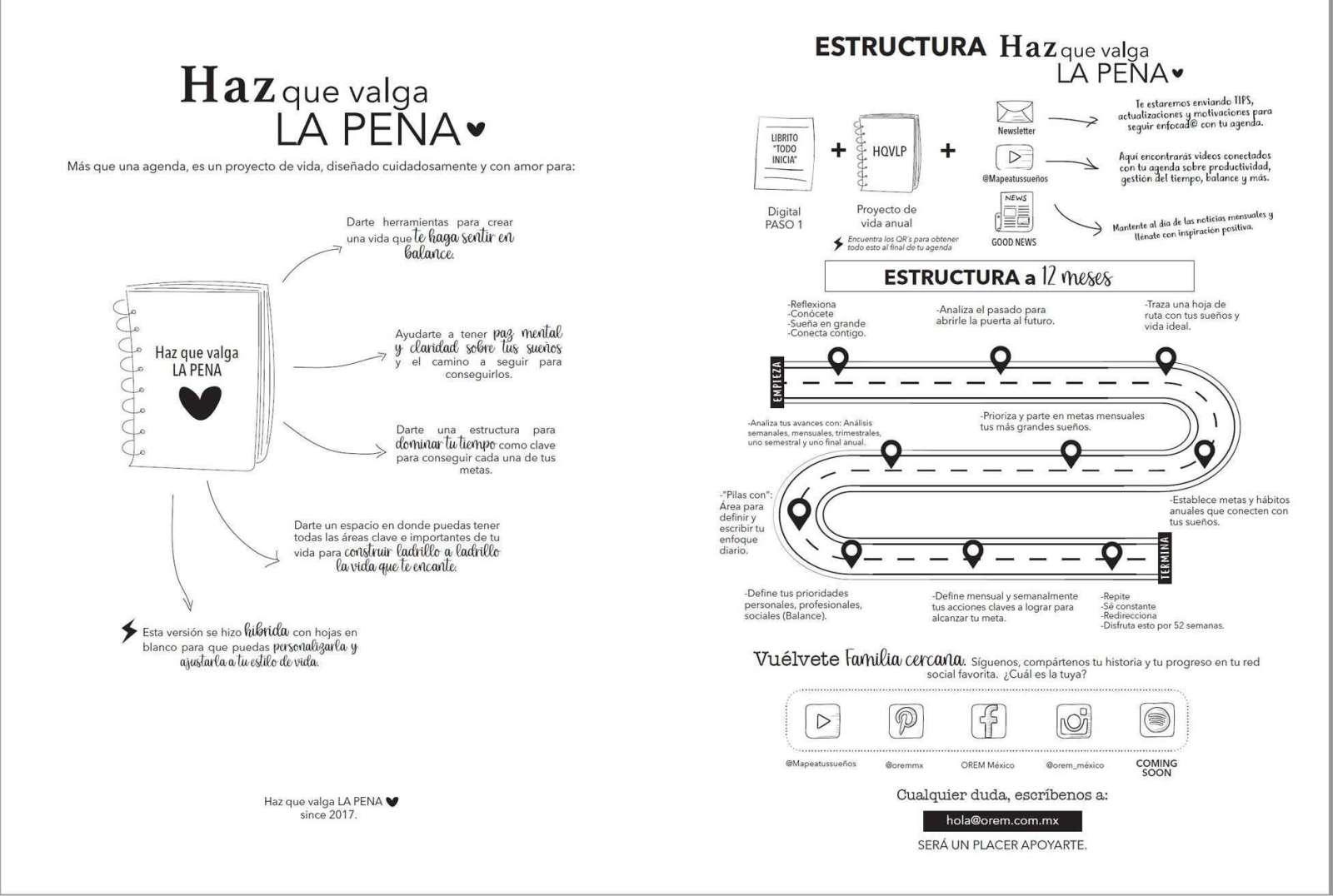 Estructura de la agenda perpetua