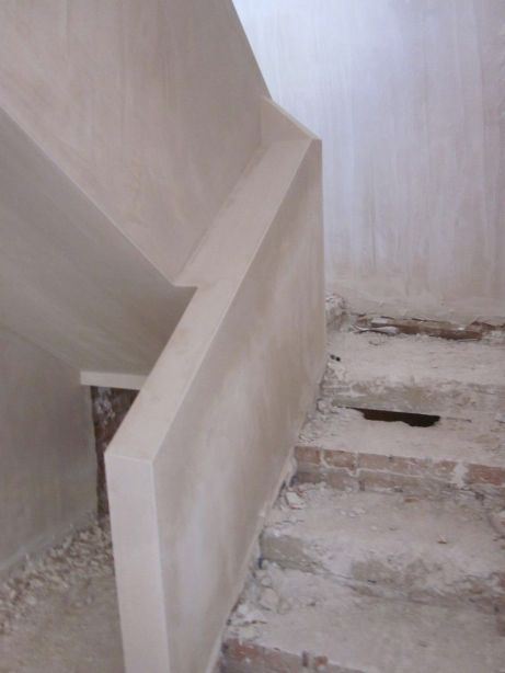 The Stairwell plastered