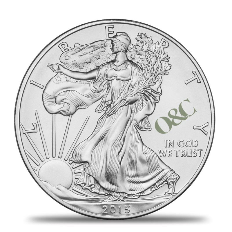 Pice Silver Eagle 1 Once Argent Avec Or Amp Change
