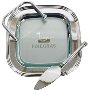 set pour servir le foie-gras