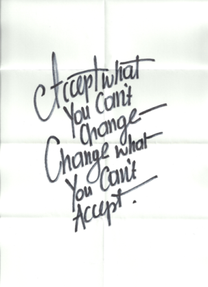 accept what you can't change
