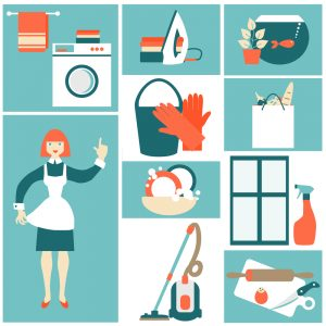 House work concept vector illustration.