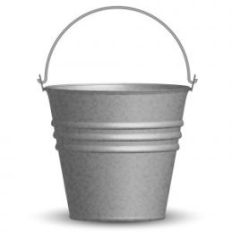 Vector illustration of bucket