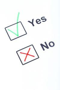 saying yes, saying no