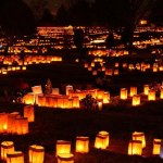 Luminarias at the Cemetery