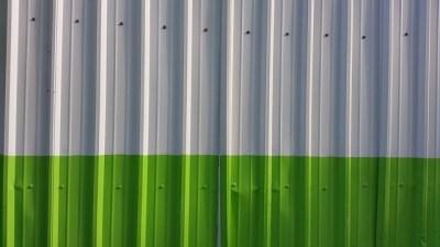 Metal Fence Wall Metallic Green Background Panels