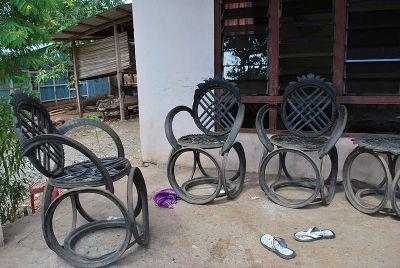 recycled metal furniture