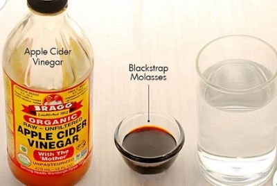 apple cider vinegar and black strap molasses treatment for ovarian cysts disease