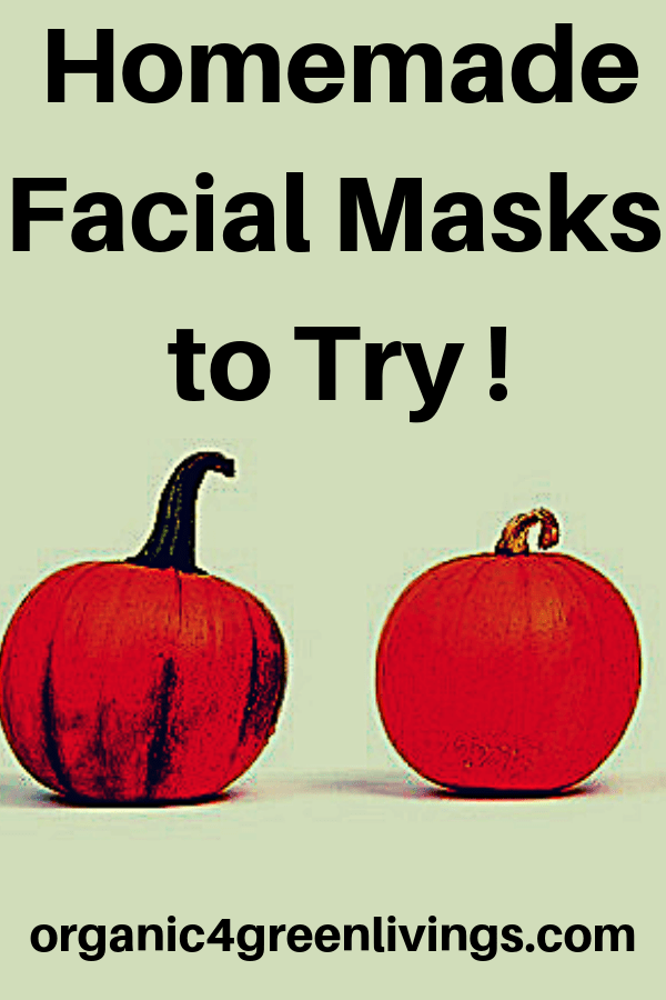 Homemade pumpkin facial masks