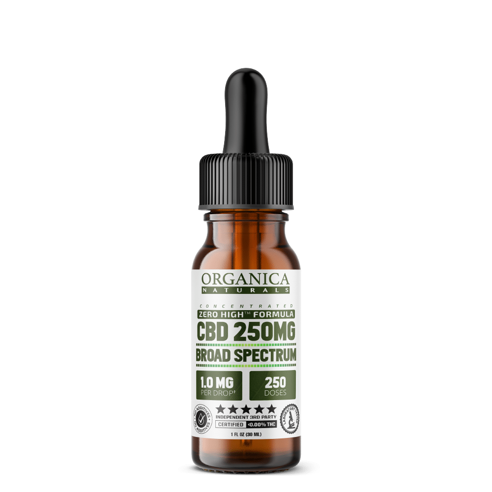 CBD Oil - No THC Broad Spectrum Formula - Pocket Size 250MG