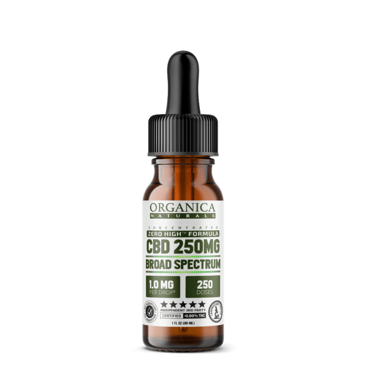Broad Spectrum CBD Oil - No THC - 250MG
