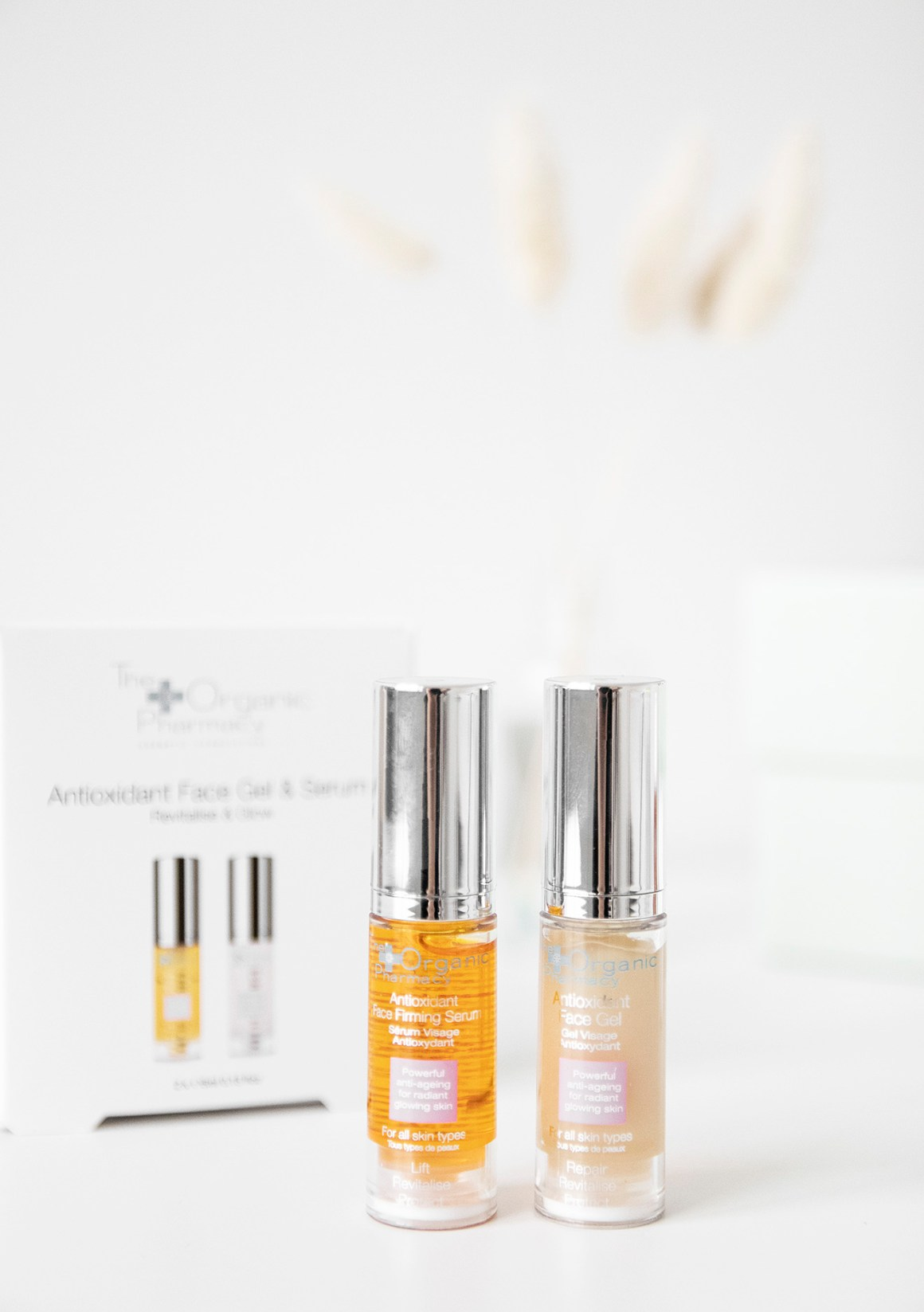 The Organic Pharmacy Antioxidant Face Gel and Serum Kit
