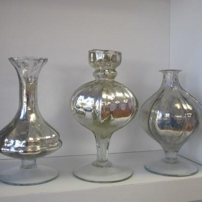 Silver Mercury Bud Vasess