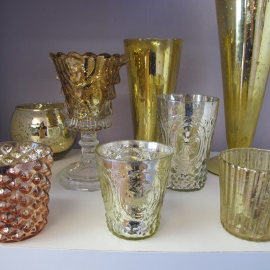 Gold and Copper Mercury Votives