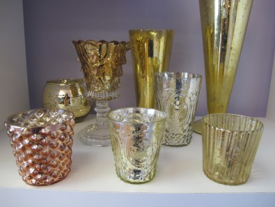 Gold and Copper Mercury Votives