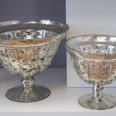 Silver Mercury Footed Bowls
