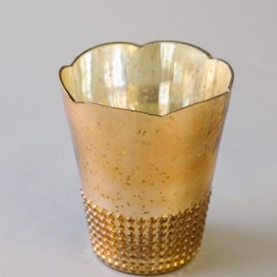 Rose Gold Mercury Vase