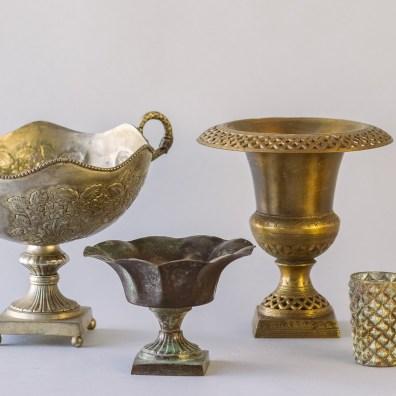 Aged Metal Vessels