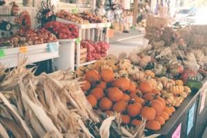 Healthy local market produce