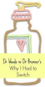 Dr Woods castile soap vs Dr Bronner