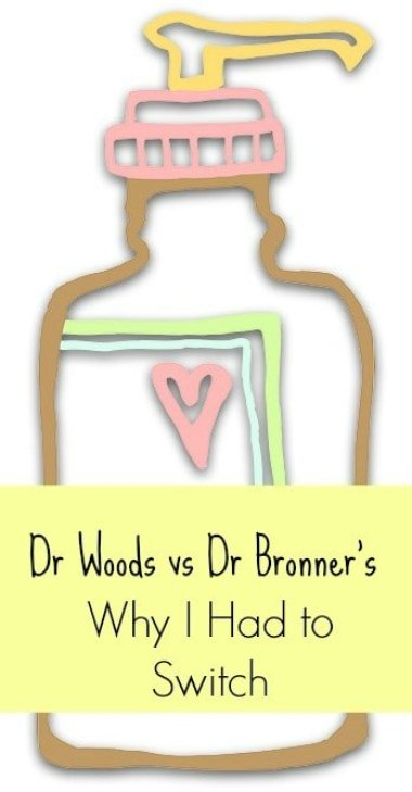 Dr Woods castile soap vs Dr Bronner