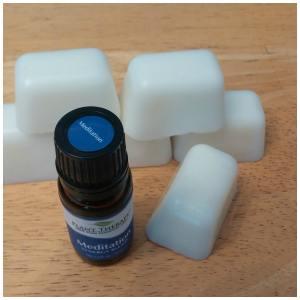 DIY essential oil lotion bars