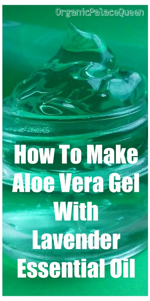 Aloe vera gel with lavender essential oil