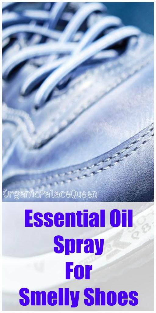 DIY essential oil shoe spray