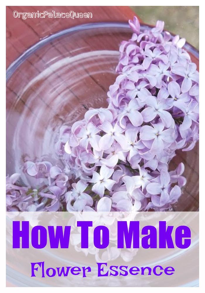 DIY flower essence recipe