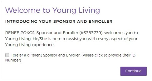 choosing a sponsor for young living