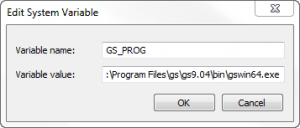 For Windows 7 the following System Variable is required to use EPS with GIMP