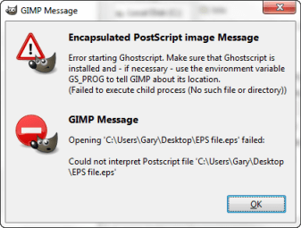 Steps to open eps files in gimp when trying to open an eps file in ghostscript this message appears ccuart
