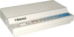 The US Robotics Sportster 28,800 28k External Fax Modem was beautiful in white