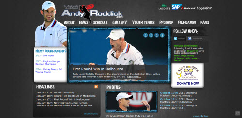 The Website of Andy Roddick - Tennis Player
