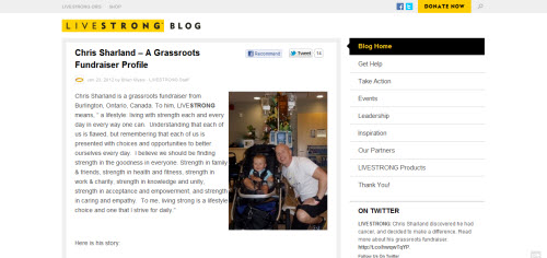 Lance Armstrong Website