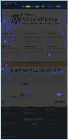 Using a Heatmap shows which is the most popular content on any Webpage
