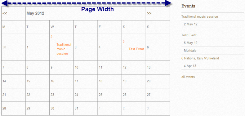 Make the Event Manager Calendar 100% Page Width