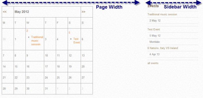 Events Manager for WordPress doesn't display the calendar full width